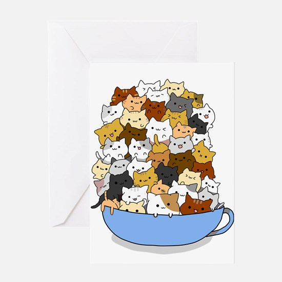Full Cats Greeting Cards
