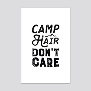 Camp Hair Don't Care Mini Poster Print