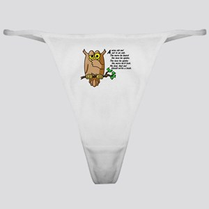 Wise Owl Classic Thong
