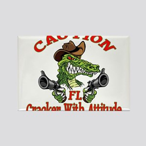 Florida Cracker With Attitude Rectangle Magnet