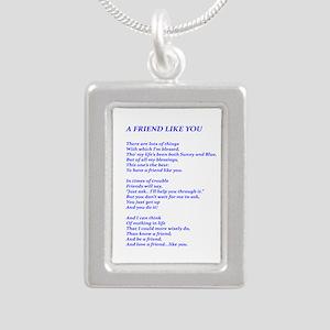 A Friend Like You Silver Portrait Necklace