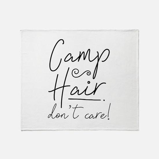 Camp Hair Don't Care Stadium Blanket