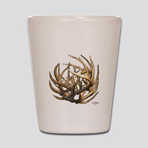 Whitetail Buck Deer Antler Art Cluster Shot Glass