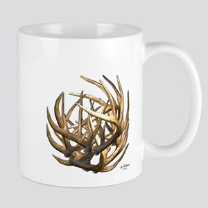 Whitetail Buck Deer Antler Art Cluster Mug