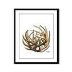 Whitetail Buck Deer Antler Art Cluster Framed Pane