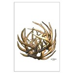 Whitetail Buck Deer Antler Art Cluster Large Poste