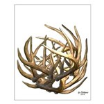 Whitetail Buck Deer Antler Art Cluster Small Poste