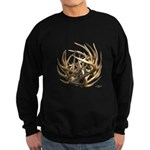 Whitetail Buck Deer Antler Art Cluster Sweatshirt