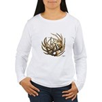 Whitetail Buck Deer Antler Art Cluster Women's Lon