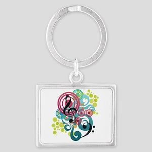 Music Swirl Landscape Keychain