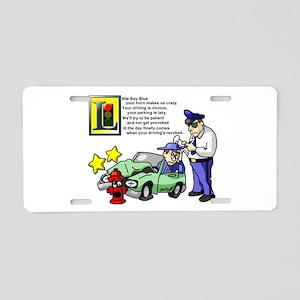 Boy Blue Aluminum License Plate