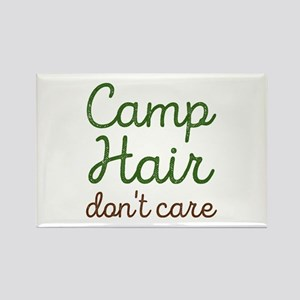 Camp Hair Don't Care Rectangle Magnet