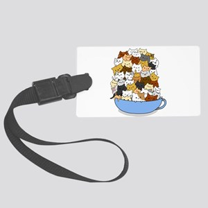 Full Cats Large Luggage Tag