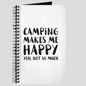 Camping Makes Me Happy Journal