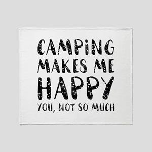 Camping Makes Me Happy Stadium Blanket