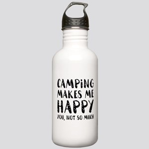 Camping Makes Me Happy Stainless Water Bottle 1.0L