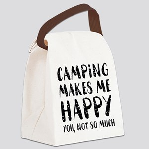 Camping Makes Me Happy Canvas Lunch Bag