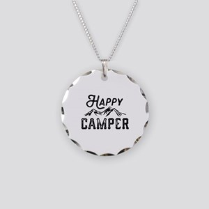 Happy Camper Necklace Circle Charm