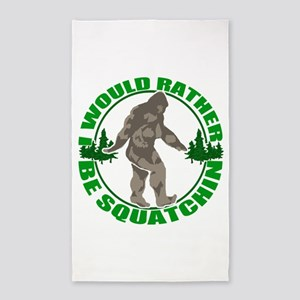 Rather be Squatchin G 3'x5' Area Rug