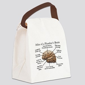 Atlas of a Plumbers Brain Canvas Lunch Bag