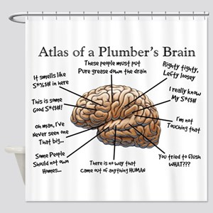 Atlas of a Plumbers Brain Shower Curtain