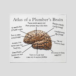 Atlas of a Plumbers Brain Throw Blanket