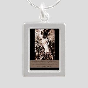 Keep Believing Silver Portrait Necklace