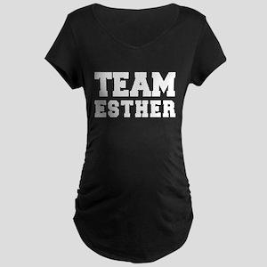 TEAM ESTHER Maternity Dark T-Shirt