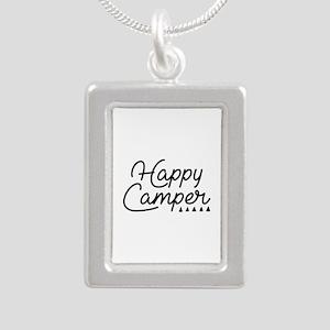 Happy Camper Silver Portrait Necklace