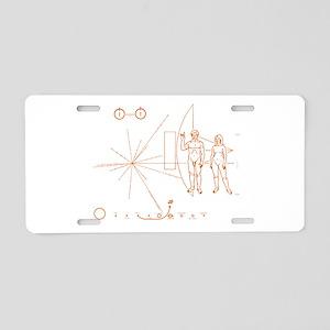 Hook em Pioneer plaque v3 Aluminum License Plate