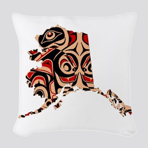 FOR ALASKA Woven Throw Pillow