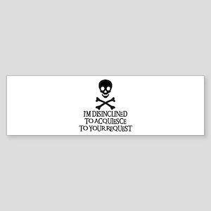 DISINCLINED Bumper Sticker