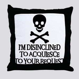 DISINCLINED Throw Pillow