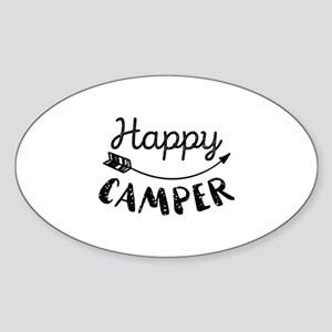 Happy Camper Sticker (Oval)