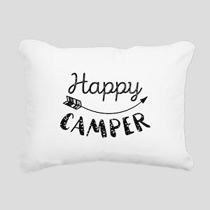Happy Camper Rectangular Canvas Pillow