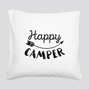 Happy Camper Square Canvas Pillow