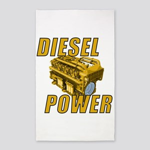 Diesel Engine Power 3'x5' Area Rug