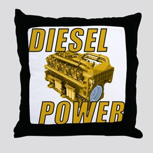Diesel Engine Power Throw Pillow