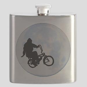 Bigfoot on bicycle Flask