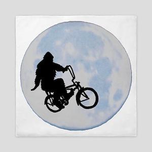 Bigfoot on bicycle Queen Duvet
