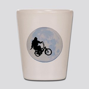 Bigfoot on bicycle Shot Glass