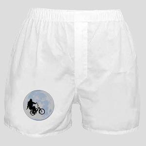 Bigfoot on bicycle Boxer Shorts
