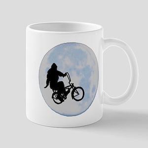 Bigfoot on bicycle Mug