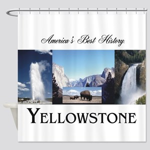 Yellowstone Americasbesthistory.com Shower Curtain