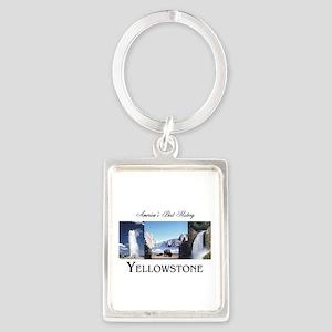 Yellowstone Americasbesthistory. Portrait Keychain