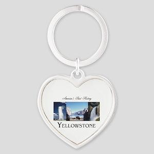 Yellowstone Americasbesthistory.com Heart Keychain