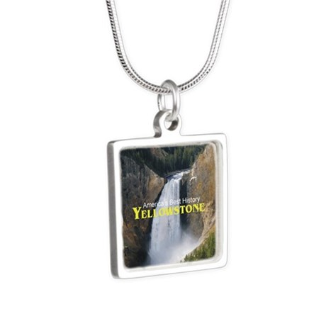 Yellowstone Americasbesthi Silver Square Necklace