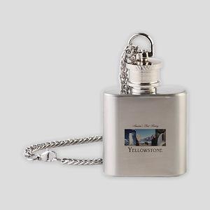 Yellowstone Americasbesthistory.com Flask Necklace