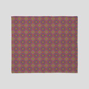 Fake knittted Kaleidoscope Throw Blanket