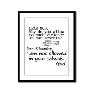 Dear God Framed Panel Print